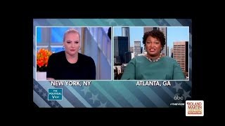 Stacey Abrams Shuts Meghan McCain Down On Questions About Her Stance On Gun Control