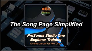 The Song Page - PreSonus Studio One Beginner Training