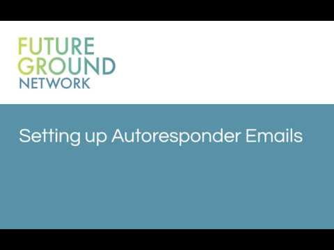 5. Setting up autoresponder emails