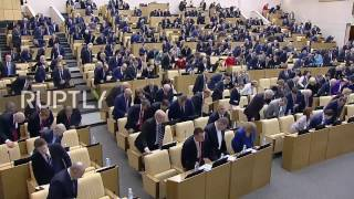 Russia  State Duma observes a minute of silence for Vitali Churkin