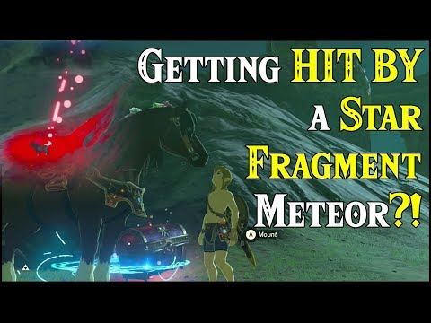 Getting HIT BY a STAR FRAGMENT Meteor?! Xenoblade Sky Treasure Chest in Zelda Breath of the Wild DLC