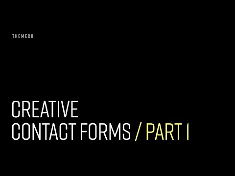 Creative Contact Forms (Part 1)