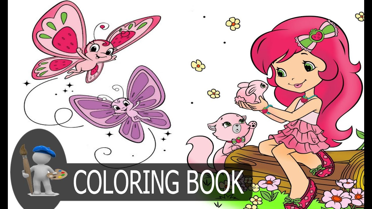Strawberry Shortcake For Kids Coloring Pages # Strawberry ...