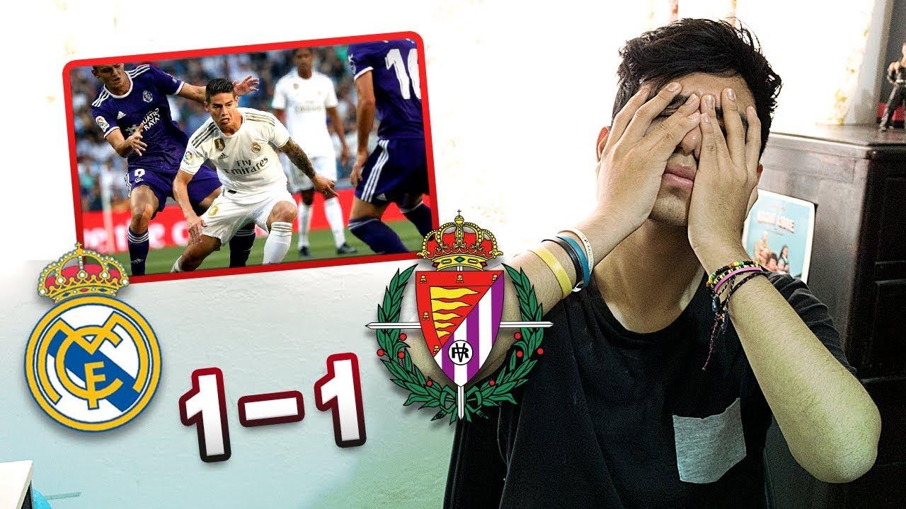 REACCIONANDO A Real Madrid vs Valladolid 1-1 *JAMES TITULAR*