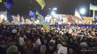 Euromaidan: thousands of Ukrainians sing the Ode of Joy /  Zoya Shu Video
