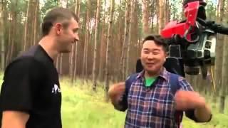 Bilguun Ariunbaatar i harvester Valmet 901.4