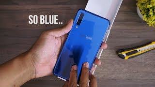 Download Video BIRU GONJRENG.. Unboxing Samsung Galaxy A7 2018 MP3 3GP MP4