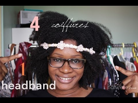 Headband cheveux long boucles