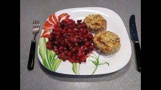 Рецепт Мясные гнезда - вкусные мясные котлеты с начинкой в духовке
