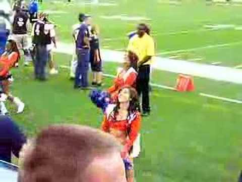 Denver Broncos Cheerleaders on the sidelines