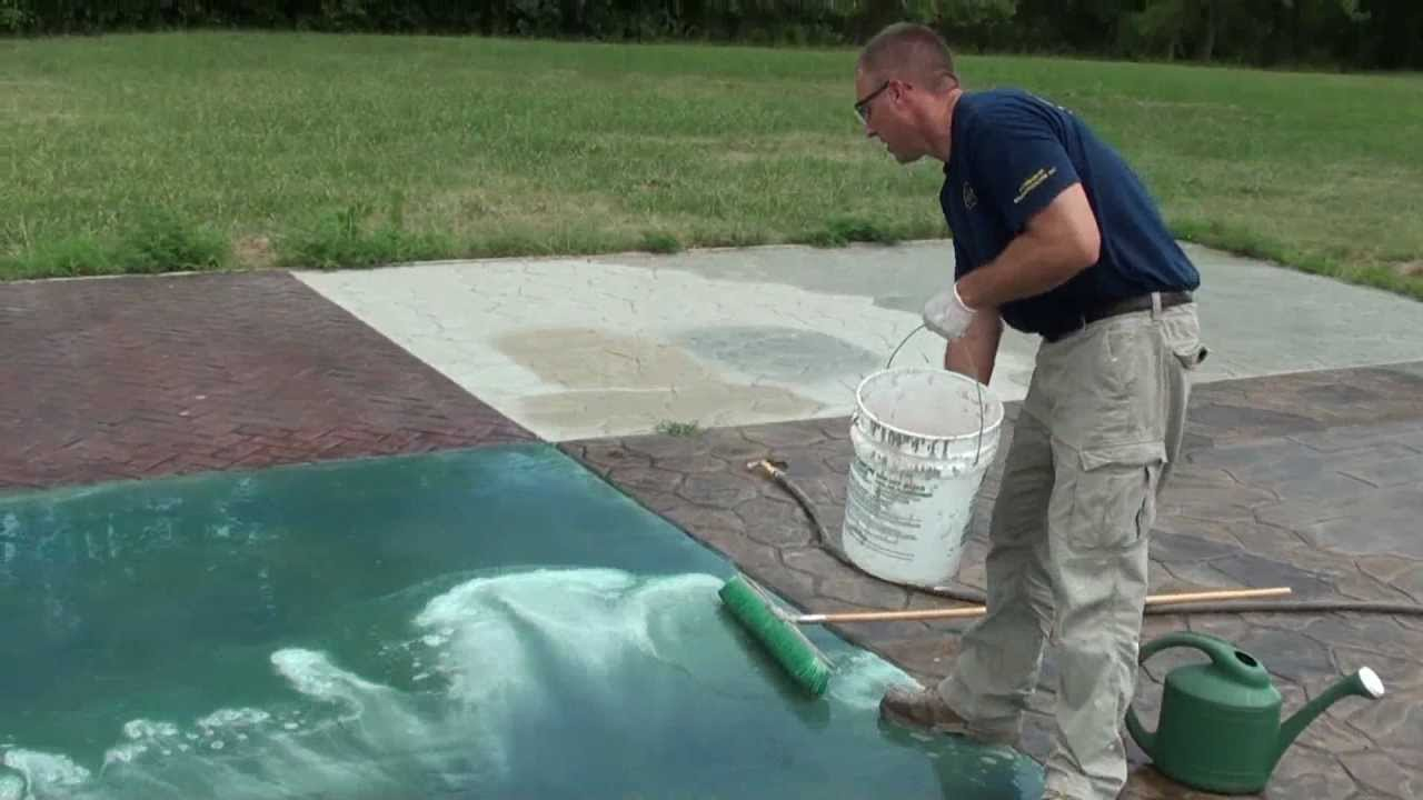 Concrete Surface Preparation Video 2... ACID ETCHING   YouTube