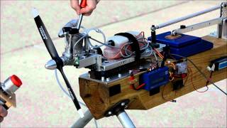 O.S. FS-95V Four Stroke Engine Test with Master Airscrew 14X6