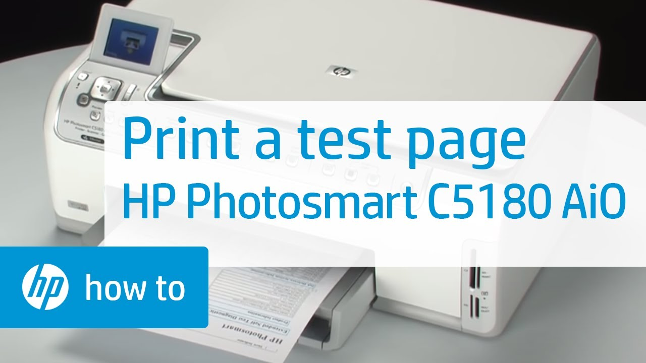 Printing A Test Page Hp Photosmart C5180 All In One