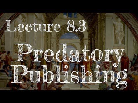Calling Bullshit 8.3: Predatory Publishing