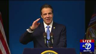 NY Gov. Andrew Cuomo delivers State of the State address