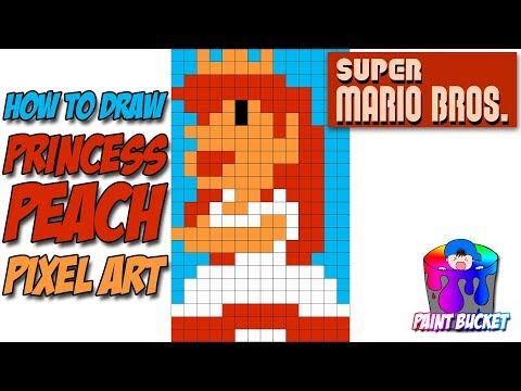 How To Draw Princess Peach Super Mario Bros Pixel Art