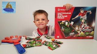 Настольная игра Большой Футбол Играем в новую Акцию магазина Пятёрочка   Видео для детей