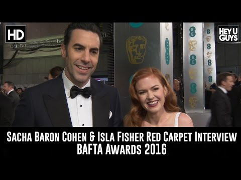 Sacha Baron Cohen & Isla Fisher Red Carpet Interview - BAFTA Awards 2016