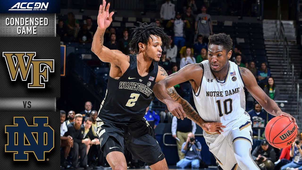 Wake Forest vs. Notre Dame Condensed Game | 2018-19 ACC Basketball