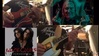 "Alice Cooper ""Genuine American Girl"" guitar orch playthrough"