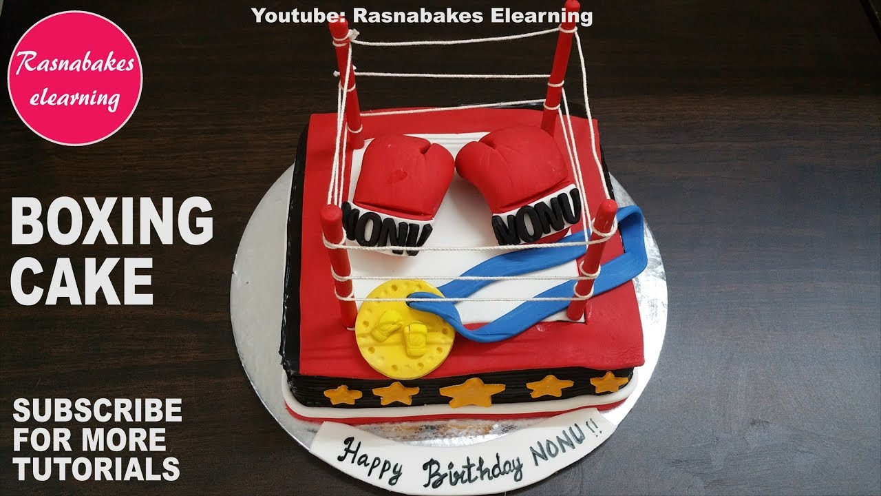 Kickboxing Happy Birthday Cake Design Pic Ideas Images Bakery Maker Decorating Tutorial