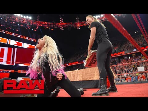 Ronda Rousey is suspended after launching an attack: Raw, June 18, 2018 video screenshot