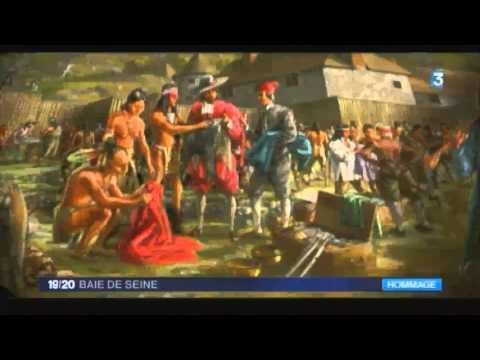 Hommage à Samuel de Champlain à Honfleur