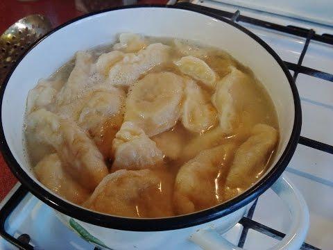 Домашние вареники с картошкой и грибами рецепт