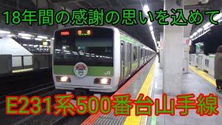[鉄道PV]〜18年間の感謝の思いを込めて〜E231系500番台山手線 旅立ちの日に…