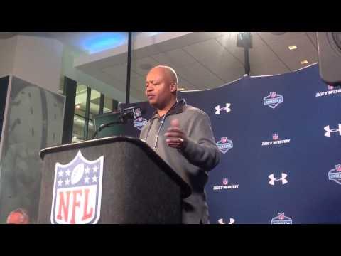 Lions coach Jim Caldwell at NFL Combine