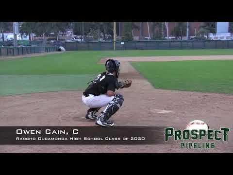Owen Cain Prospect Video, C, Rancho Cucamonga High School Class of 2020