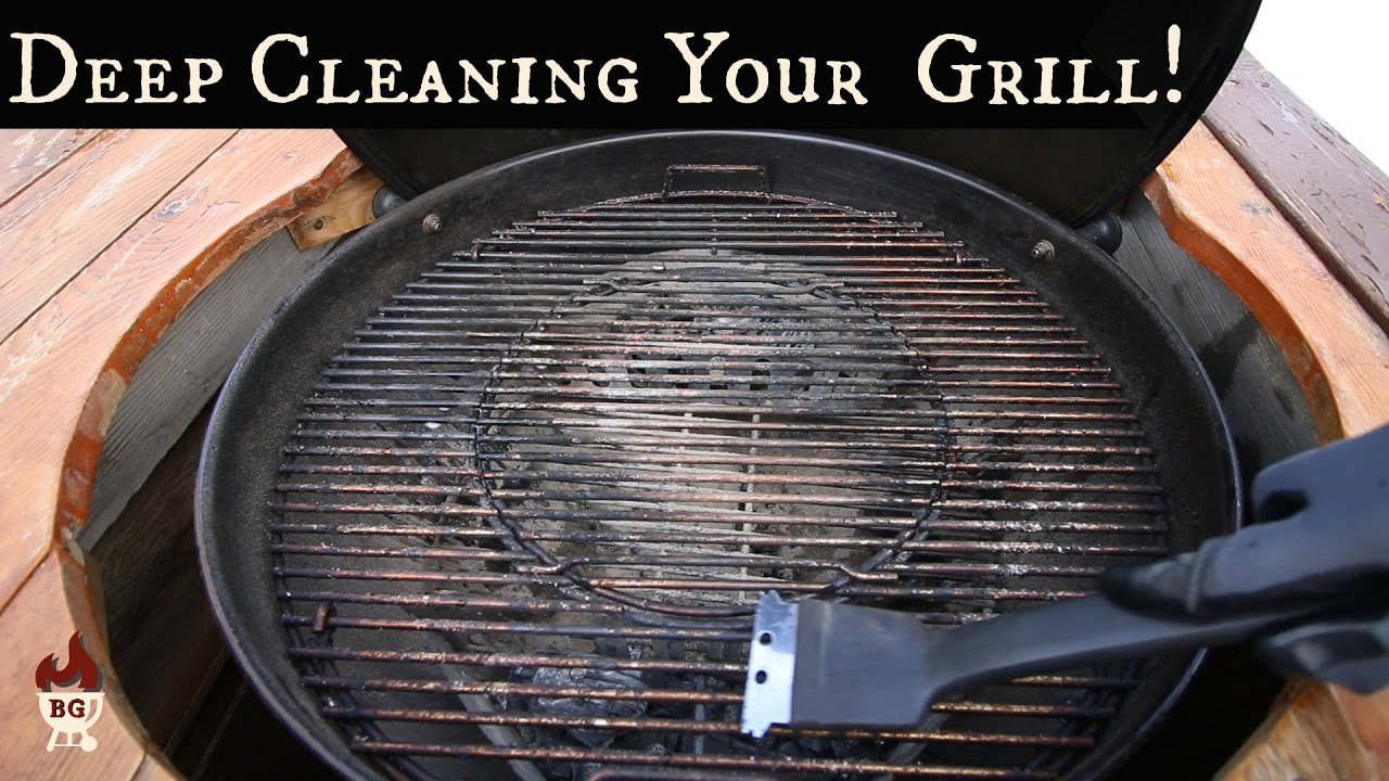 Charcoal Grill Deep Cleaning How To Clean Your Weber