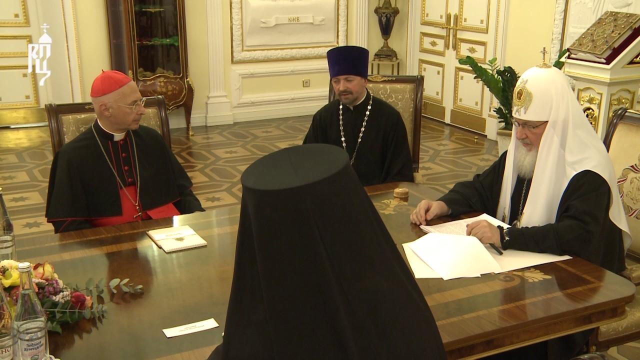 Патриарх Кирилл встретился с участниками Форума-диалога по линии гражданских обществ России и Италии