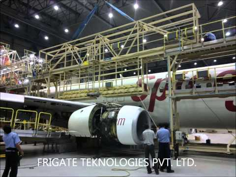 Aircraft Maintenance Docking System Narrow Body With Aircrafts