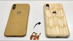 How to make Wooden Mobile Cover with Matchsticks - Diy iPhone Cover at home