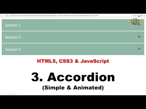 3. Simple & Animated Accordion | Menu | HowToCreate Series | HTML5, CSS3 & JavaScript