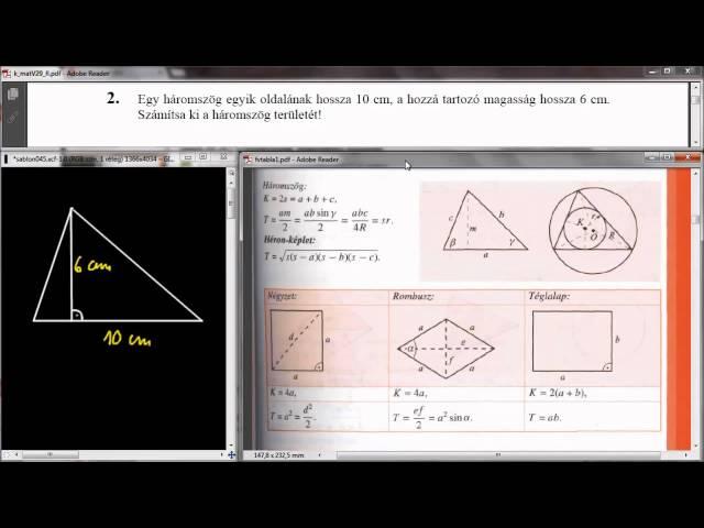 2. Feladat - Háromszög területe
