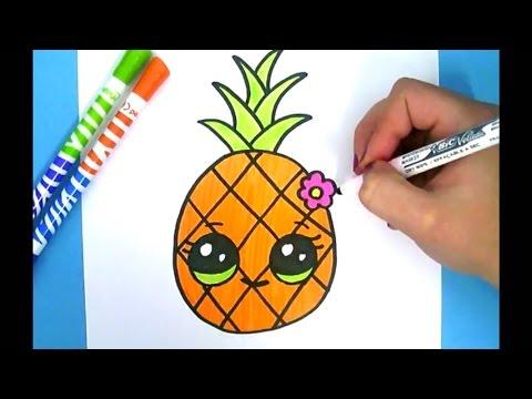 Kawaii Ananas Zeichnen Ganz Einfach Youtube