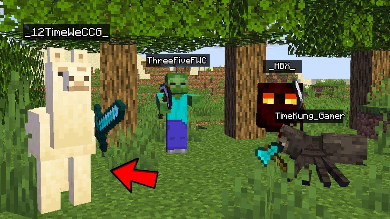 จะเป็นไง!? ถ้าเราต้อง หา monster เพื่อแปลงร่างแล้วมาสู้กันในมายคราฟ!! - Minecraft แปลงร่าง