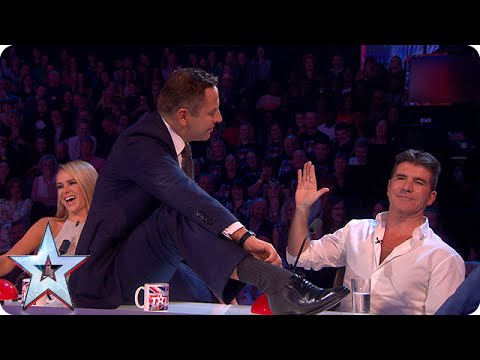David gets up close and personal with Simon | Semi-Final 2 | Britain's Got Talent 2015