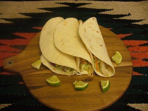 Fish Tacos With A Spicy Avocado Cream Sauce!
