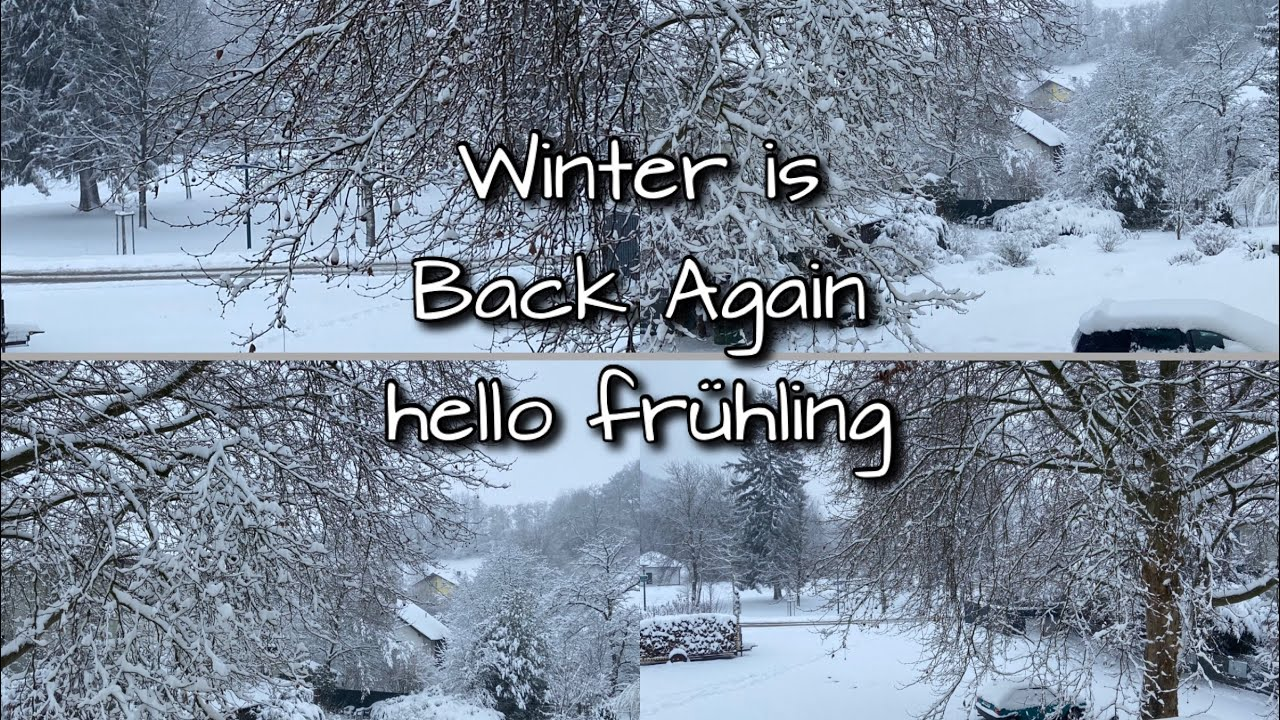 I Wake Up Like This Winter is Back Again#snow#winter#frühling