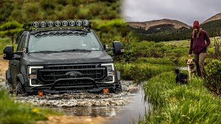 Full-Size Colorado Camping - F250 Tręmor In The Rainy Rocky Mountains - WEEKENDERLANDER EP 30