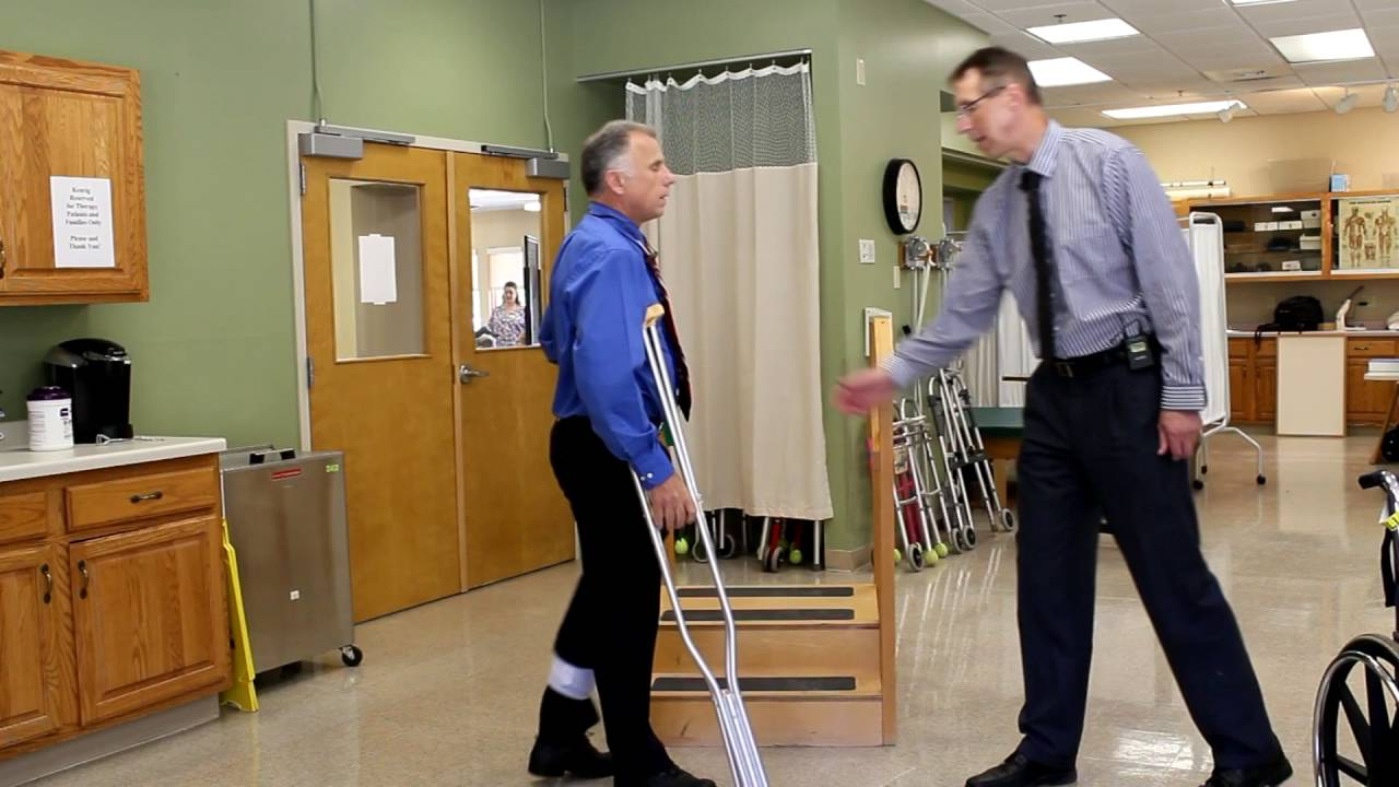 How To Go Up Down Stairs With Crutches With Non Weight Bearing