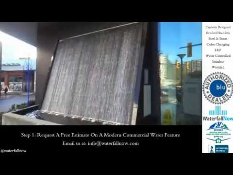 Architectural Waterfalls Vancouver BC, Canada USA | Custom Water Features & Fountains
