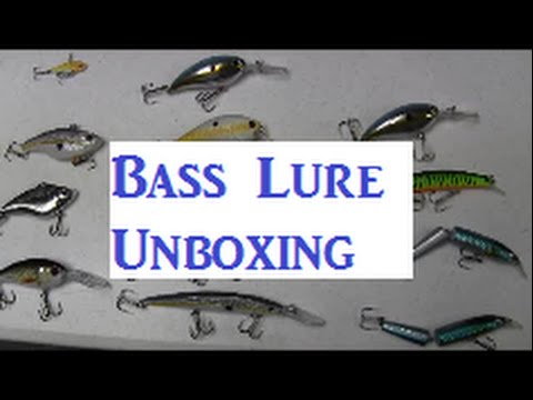 Unboxing Bass Fishing Lures - Excellent Buy-13 Large Crankbaits for $20-- wlure