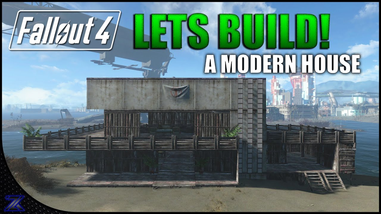 Fallout 4 lets build a modern style house nordhagen for Fallout 4 bedroom ideas