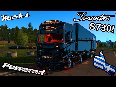 Scania S730 Sarantos Greek! (Euro Truck Simulator 2)