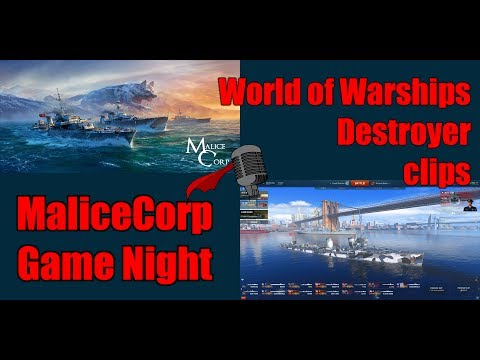 World of Warships Destroyers - Malice Corp Game Night