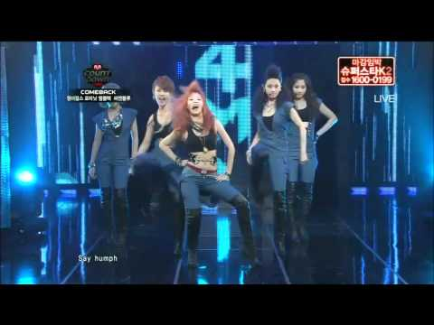 4Minute-Who's next & HuH @ Mnet MCountdown!